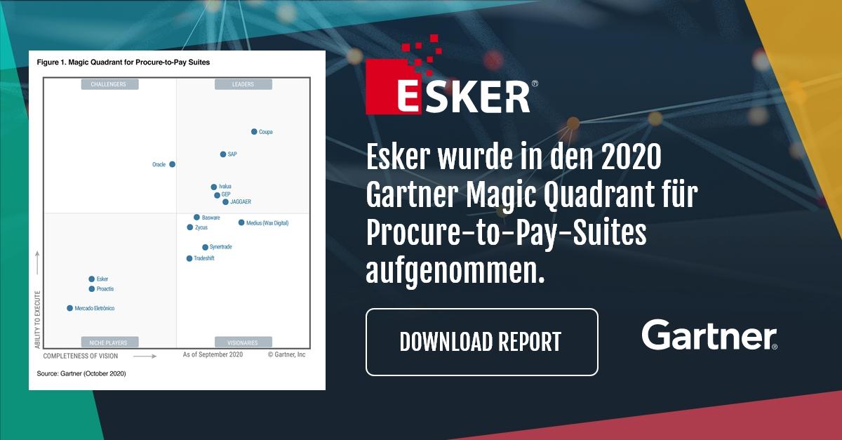Esker im Gartner Magic Quadrant 2020