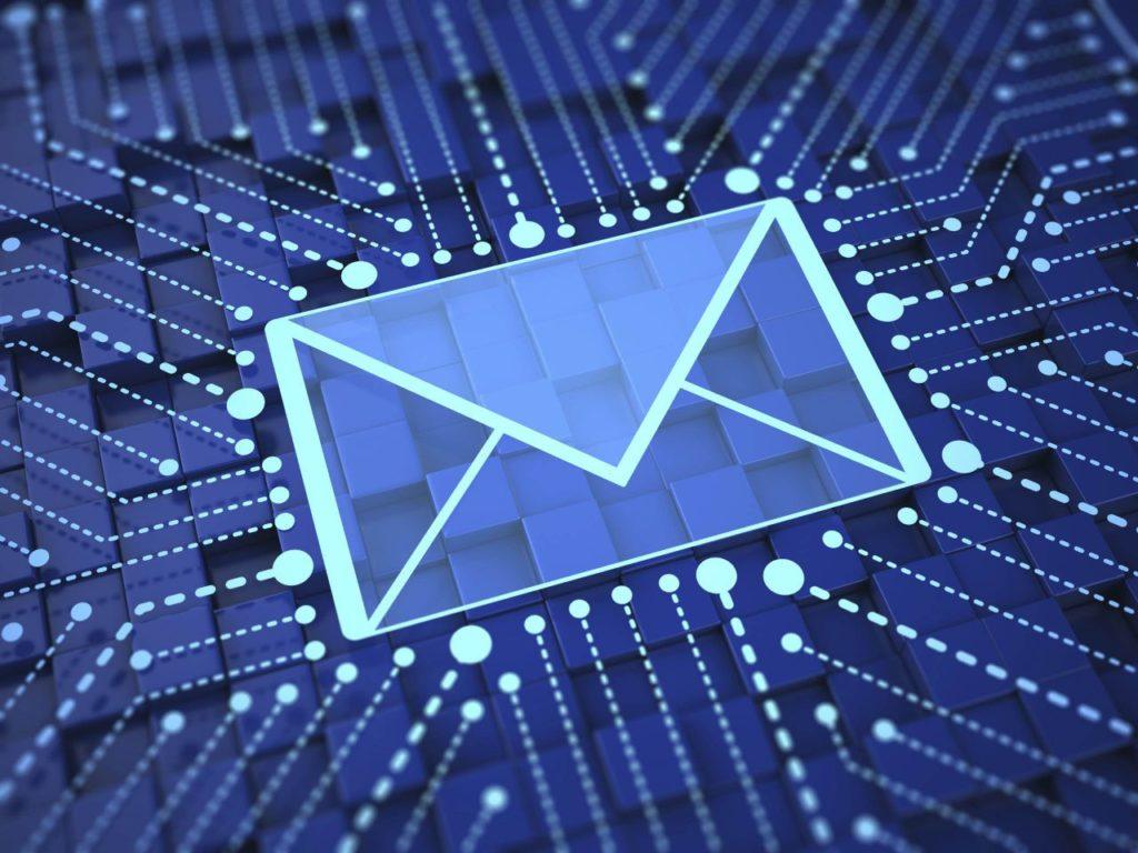 Gezeigt wird ein elektronischer Brief